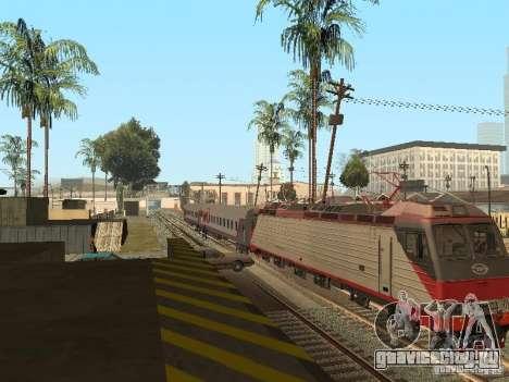 Пассажирский вагон РЖД v2.0 для GTA San Andreas вид справа