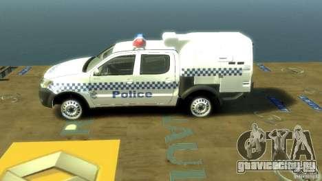 Toyota Hilux Australian Police ELS для GTA 4 вид слева