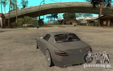 Mercedes-Benz SLS для GTA San Andreas вид сзади слева