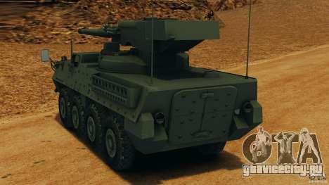 Stryker M1128 Mobile Gun System v1.0 для GTA 4 вид сзади слева