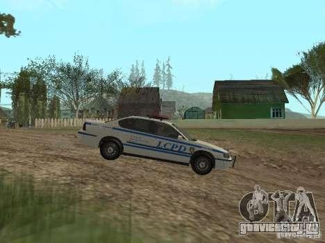 Police из ГТА 4 для GTA San Andreas вид слева