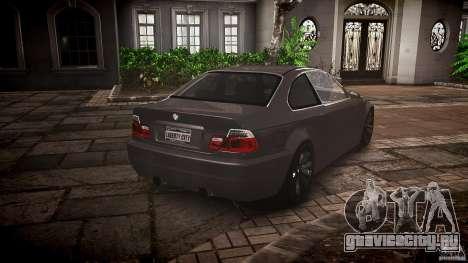 BMW 3 Series E46 v1.1 для GTA 4 вид изнутри