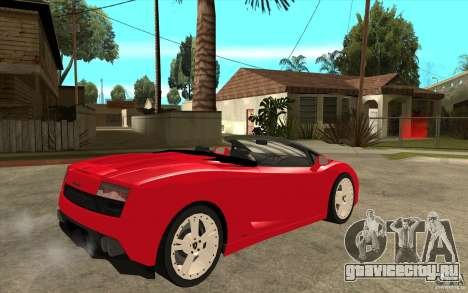 Lamborghini Gallardo LP560 Spider для GTA San Andreas вид справа