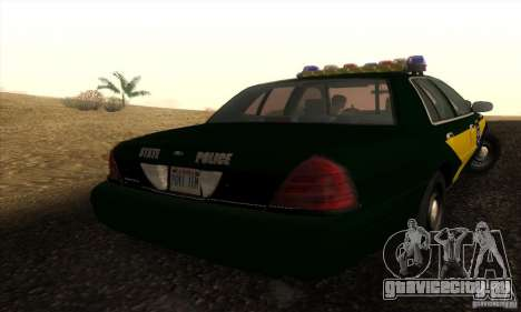 Ford Crown Victoria Indiana Police для GTA San Andreas вид слева