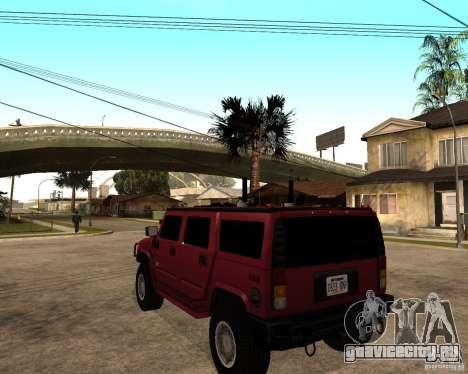 Hummer H2 SE для GTA San Andreas вид сзади слева