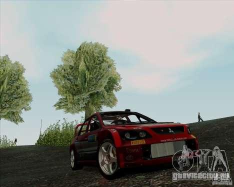 Mitsubishi Lancer Evolution VIII WRC для GTA San Andreas вид слева