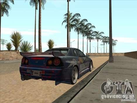 Nissan Skyline R34 VeilSide для GTA San Andreas вид сзади
