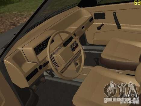 ВАЗ-2109 1987 Спутник v1.2 для GTA San Andreas вид сзади