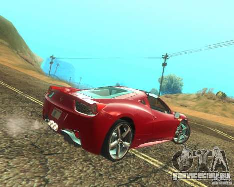 Ferrari 458 Italia Convertible для GTA San Andreas вид справа