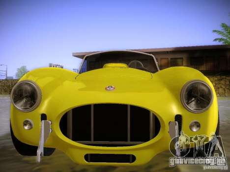Shelby Cobra 427 для GTA San Andreas вид сзади