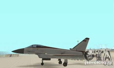 EF-2000 Typhoon V1.3 для GTA San Andreas вид изнутри
