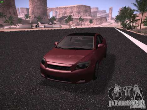 Scion tC для GTA San Andreas вид сзади