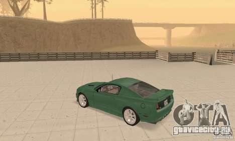 Saleen S281 v2 для GTA San Andreas вид изнутри