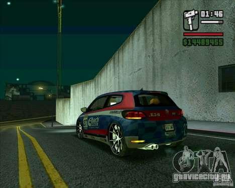 Volkswagen Scirocco 2008 для GTA San Andreas вид сзади слева