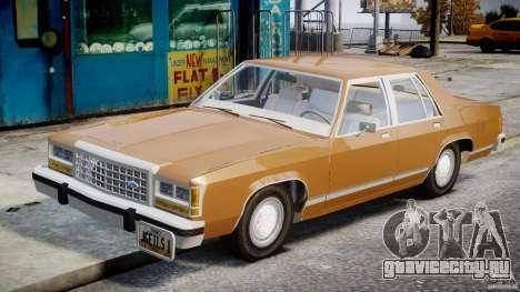Ford Crown Victoria 1983 для GTA 4 вид изнутри