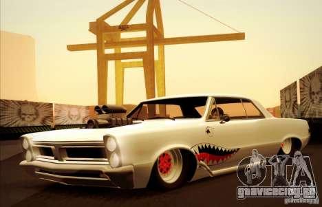 Pontiac GTO Drag Shark для GTA San Andreas вид сбоку