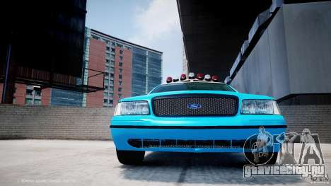 Ford Crown Victoria Classic Blue NYPD Scheme для GTA 4 вид сверху
