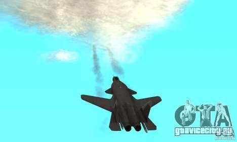 Су-47 «Беркут» Defolt для GTA San Andreas вид сзади
