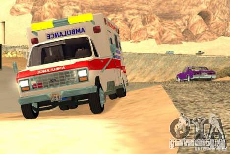 Ford Econoline Ambulance для GTA San Andreas вид слева