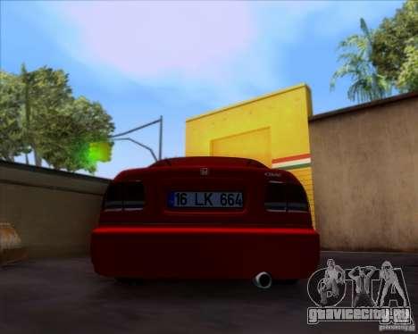 Honda Civic 16 LK 664 для GTA San Andreas вид сзади