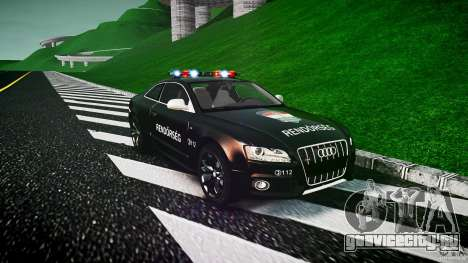 Audi S5 Hungarian Police Car black body для GTA 4