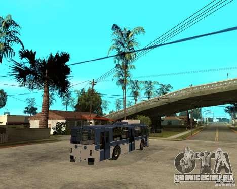 Троллейбус ЗИУ 52642 для GTA San Andreas вид сзади слева
