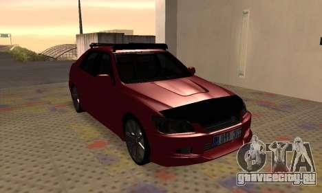 Lexus IS300 для GTA San Andreas вид изнутри