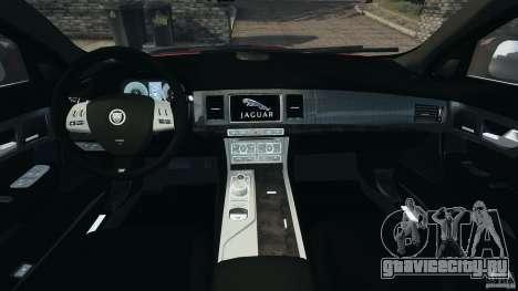 Jaguar XFR 2010 v2.0 для GTA 4 вид сзади