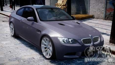 BMW M3 E92 stock для GTA 4 вид снизу