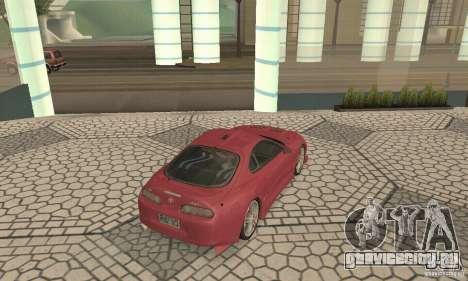 Toyota Supra Tunable 2 для GTA San Andreas вид сзади слева