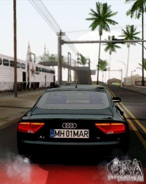 Audi A7 Sportback 2010 для GTA San Andreas вид справа