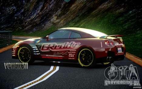 Nissan GT-R Black Edition GReddy для GTA 4 вид сзади слева