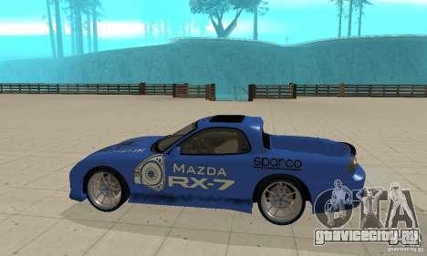 Mazda RX-7 Pickup для GTA San Andreas вид сзади слева