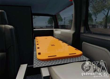 Chevrolet Suburban EMS Supervisor 862 для GTA San Andreas вид снизу