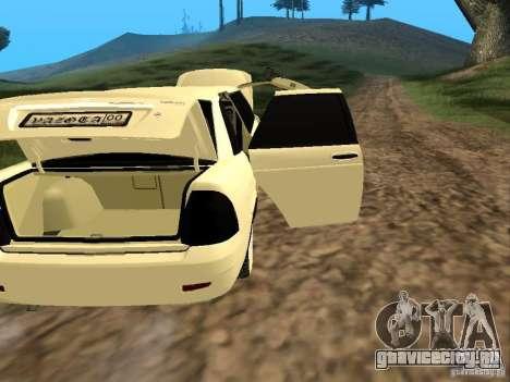 ВАЗ 2170 Приора Лимузин для GTA San Andreas вид изнутри