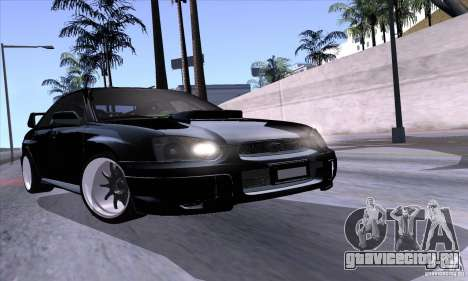 Subaru Impresa WRX light tuning для GTA San Andreas вид сбоку