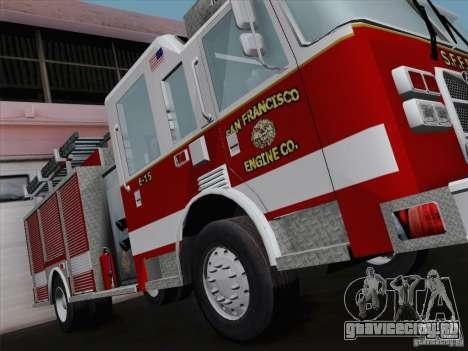 Pierce Pumpers. San Francisco Fire Departament для GTA San Andreas вид сзади