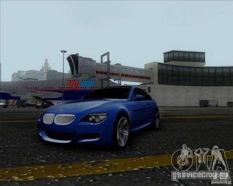 BMW 6 Series M для GTA San Andreas вид сзади