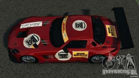 Mercedes-Benz SLS AMG GT3 2011 v1.0 для GTA 4 вид справа