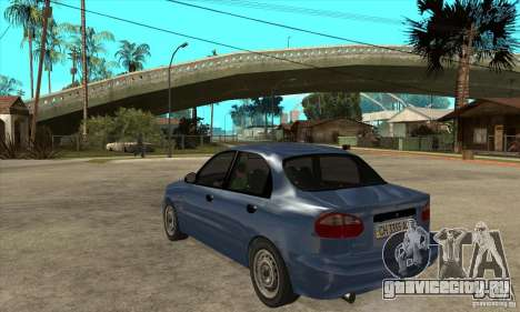 Daewoo Lanos v2 для GTA San Andreas вид сзади слева