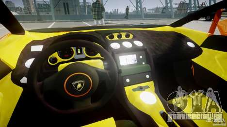 Lamborghini Gallardo Superleggera для GTA 4 вид сзади