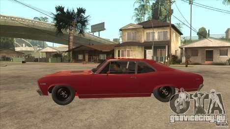 Chevrolet Nova SS для GTA San Andreas вид слева