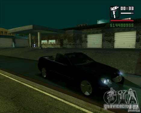 Mercedes-Benz CLK500 для GTA San Andreas вид сзади слева