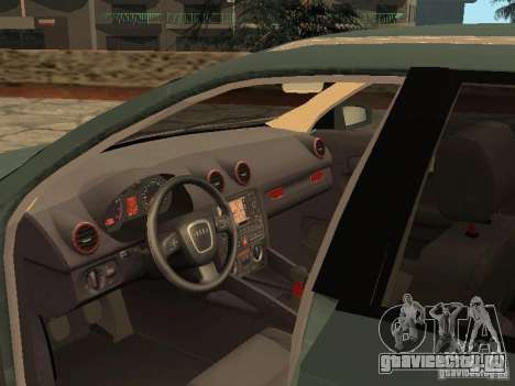 Audi S3 Sportback 2007 для GTA San Andreas вид сзади