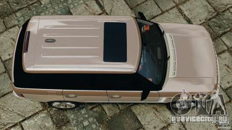 Range Rover Supercharged 2008 для GTA 4 вид справа
