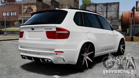 BMW X5M для GTA 4 вид сзади слева