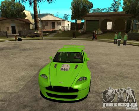 Aston Martin Vantage V8 - Green SHARK TUNING! для GTA San Andreas вид сзади