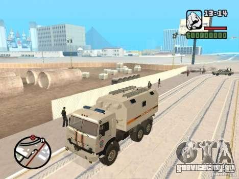 Камаз МЧС version 2 для GTA San Andreas вид слева