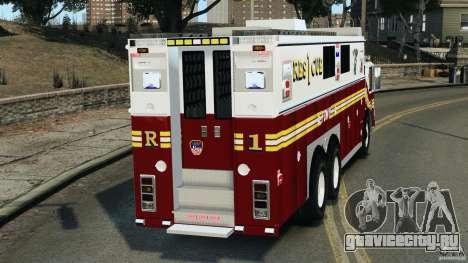 FDNY Rescue 1 [ELS] для GTA 4 вид сзади слева