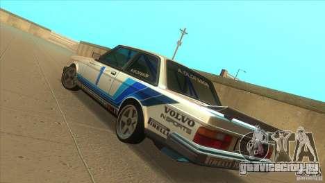 Volvo 240 Turbo Group A для GTA San Andreas вид сзади слева